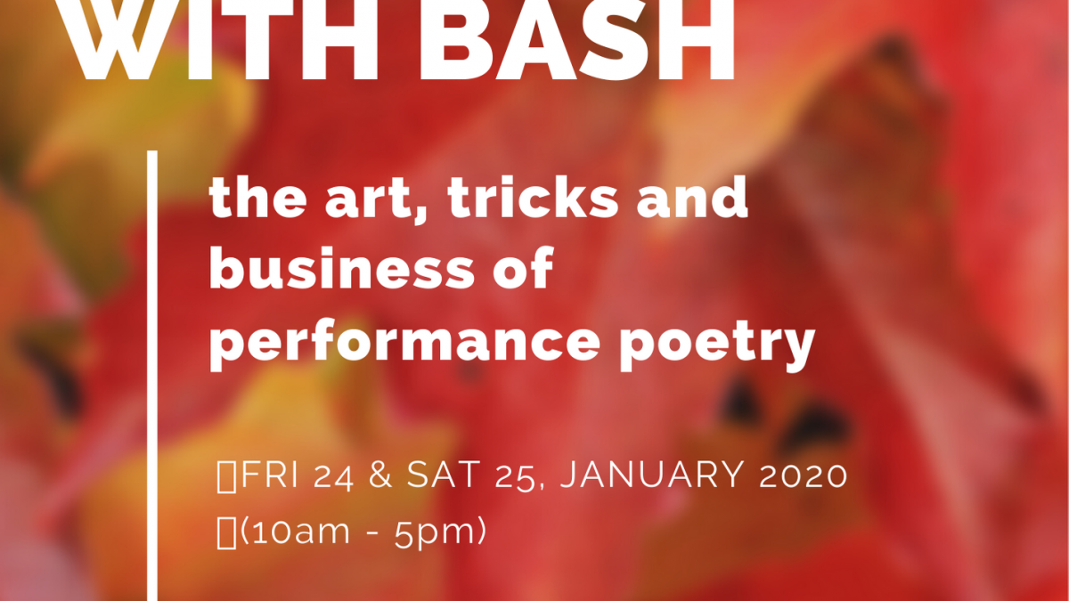 Performance Poetry Class with Bash, Set to Kick Off This Weekend